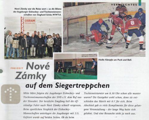 Eishockey und Tischtennis in der Slowakei