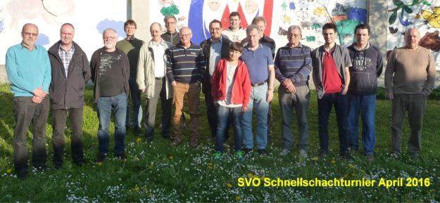 SVO Schnellschachturnier April 2015