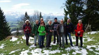 Die SVO e.V. Wandergruppe Augsburg auf dem Naturpfad Senkele bei Seeg