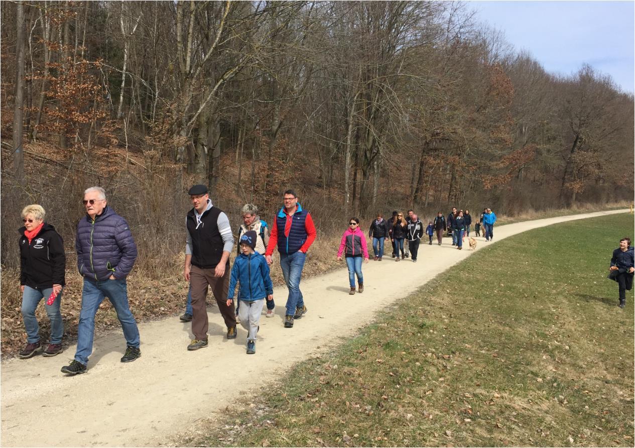 SW-H bei der Karfreitagswanderung 2018 zur Lindenau